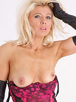 Preview Ladies in leather gloves - Blonde Nicci gets very turned on when she plays with her hot leather gloves and cane